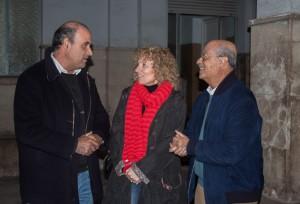 De izquierda a derecha, Justino Sánchez, Rosa Eva Díaz Tezanos y José Segura Clavell, durante el encuentro de ayer.