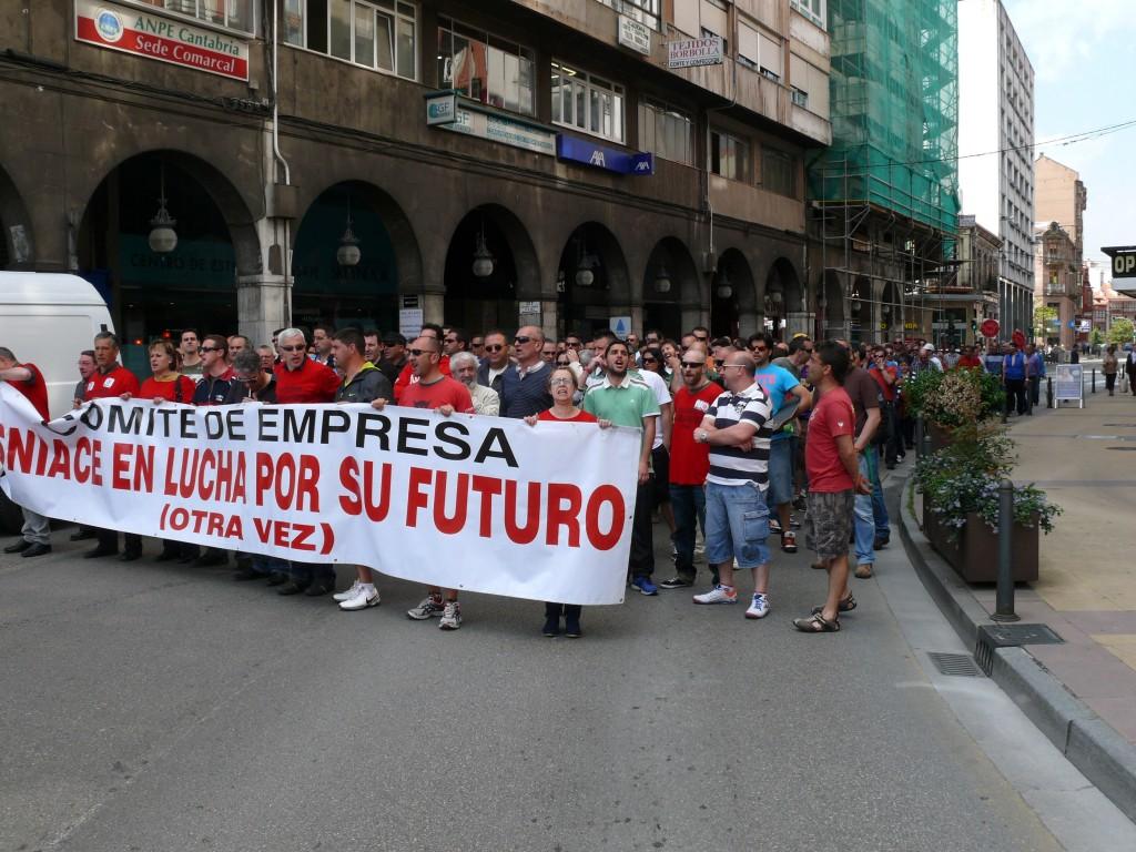 Manifestación trabajadores de Sniace