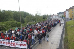 Manifestación Sniace. Foto Sane.