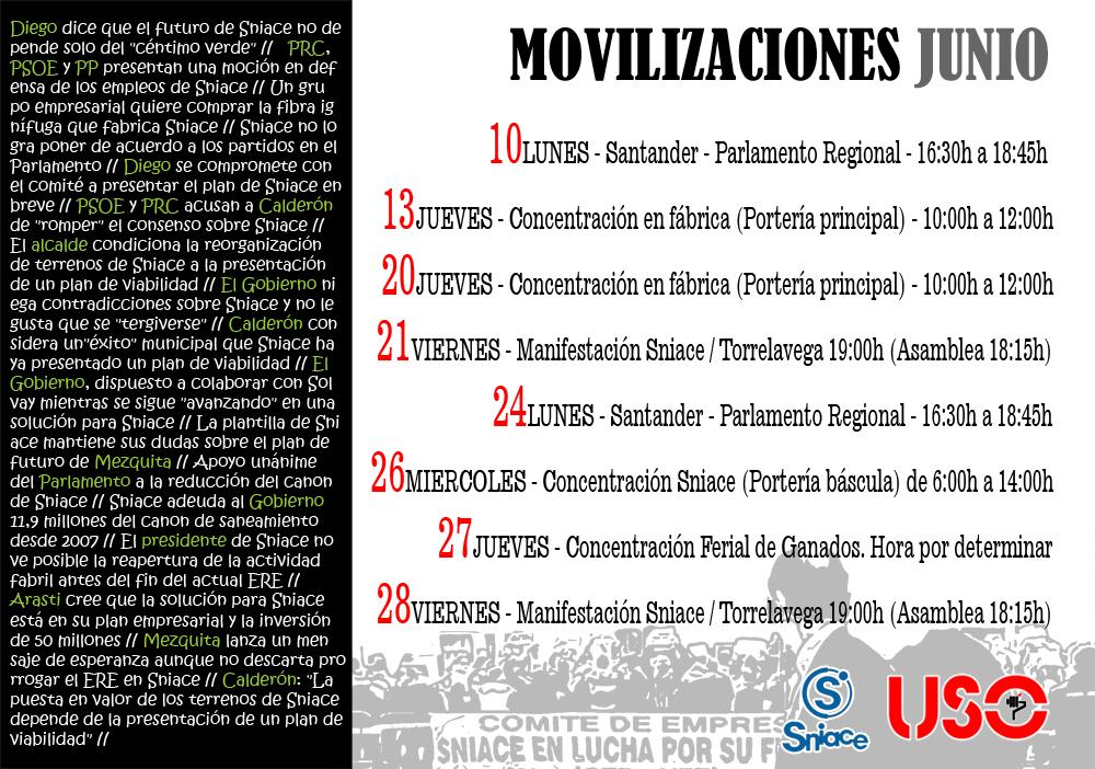 Movilizaciones junio