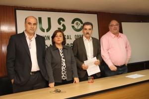 Justino Sanchez, Mercedes Martinez, José Vía y Agustin Herrera